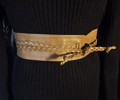 Cool Braided vintage wrap belt (ForsythiaHill) Tags: etsy forsale shopping vintage shoponline buyvintage vintageforsale forsythiahill belt braided braidedbelt leatherbelt wrapbelt fashion vintagefashion oneofakind