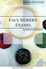 Faux Modern Enamel polymer clay tutorial (mihaelageorgescu) Tags: polymer clay tutorial jewelry faux enamel cernit fimo sculpey premo argila polimerica pâte polymère making diy arts crafts