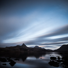 Stac Pollaidh a Loch and some whizzy clouds (amcgdesigns) Tags: andrewmcgavin assynt northwest badaghaill eos7dmk2 longexposure hitechprond 10stopfilter square loch sunset lochbadaghaill whizzy whizzyclouds rocks scotland scottish landscape scottishlandscape scottishmountains cloudsstormssunsetssunrises