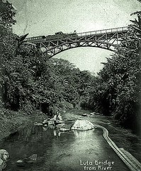 Luta Bridge on Manila RR  - 1910 (SSAVE w/ over 8 MILLION views THX) Tags: philippines philippinerailway manilarailroadcompany maniladagupanline 1899 railroad steamlocomotive americanoccupation spanishamericanwar