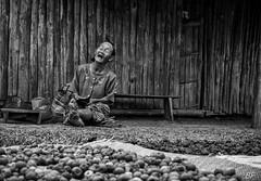 LOL in Laos !!! (poupette1957) Tags: art atmosphère black canon city curious costumes deco detail humanisme house imagesingulières life lady laos monochrome noiretblanc noir old photographie people rue street town travel urban ville voyage