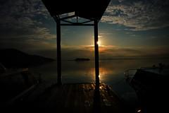 morning glory (eweliyi) Tags: 365tm2r travel peru puno laketiticaca lagotiticaca lake water sunrise reflection morning sun sky clouds light