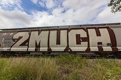 (o texano) Tags: houston texas graffiti trains freights bench benching 2much roller rem