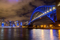 Blue Bridge (deanoj305) Tags: ilovesydney vividsydney vivid vidid2017 sydney harbour bridge light festival nsw australia au new south wales milsonspoint newsouthwales