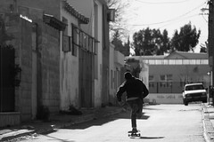 esencia (AgustínCarrillo) Tags: skateboarding streets push patear velocidad action teleobjetivo long lens keep pushing since day one trele trelew chubut argentina patagonia sudamerica skate sk8 freedom speed black white skatephoto