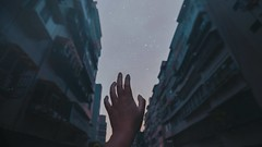 350/365 Longings of the Milky Way (Katrina Y) Tags: hands handsinframe buildings stars milky way surreal conceptual creative concept longing mood artsy art artistic cinematic selfportrait 2017 365project