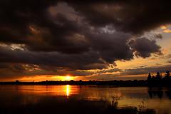 The gloaming sunset. (Photolove2017) Tags: ottawariver zibi island canada clouds chaudier albert sunset sky sun photolove2017 tiaphoto nikondx nikon interprovincial nature landscape d3100 dramatic glow ontario inexplore explored