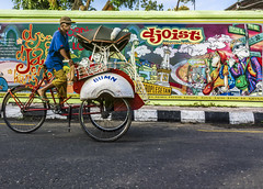 Becak Driver (hastuwi) Tags: thethirdman flickrfriday becak trishaw pedicab yogyakarta