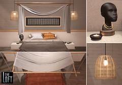 Chidi Bedroom (The Loft SL) Tags: african bedroom ethnic design interior sculpture second life
