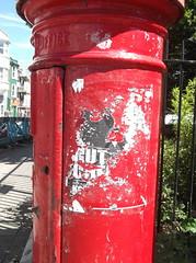 'Cut Cut' (Where There Were Posters, Trafalgar Street, Brighton) (The Lens of Lucid Frenzy) Tags: art graffiti streetart brighton posters