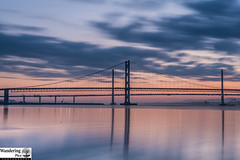 The only constant is change (ola_er) Tags: bridge forth scotland long exposure lee filters sunset sky water still nikon reflections clouds river