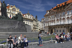 Prague (Leaning Ladder) Tags: prague praha czech czechrepublic janhus statue sculpture leaningladder bohemia canon 7d