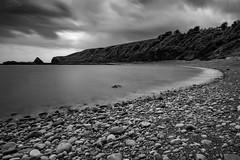 Catterline Bay (Derek Coull) Tags: catterline bay pebbleshore blackwhite daytimelongexposure northsea aberdeenshire scotland