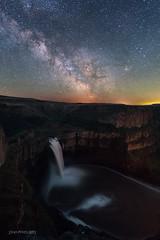 Palouse Falls Milky Way (TierraCosmos) Tags: palousefalls washington nightscape nightphotography astrophotography waterfall milkyway stars longexposure