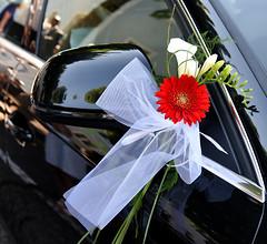 Just maried ... (Terra Pixelis) Tags: fleur rouge nikond810 hautrhin 68 ruban blanc voiture noir