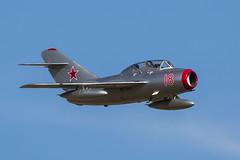 PZL-Mielec SBLim-2 (Mikoyan-Gurevich MiG-15UTI) - 18 (NickJ 1972) Tags: duxford iwm imperial war museum air festival airshow 2017 aviation pzl mielec mikoyan sblim2 mig15 fagot n104cj red 18