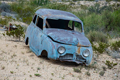 Desert blue, Terlingua Ranch, Texas. June, 2017 (adamkmyers) Tags: classiccar abandonedcar desert terlingua westtexas terlinguatexas terlinguaranch