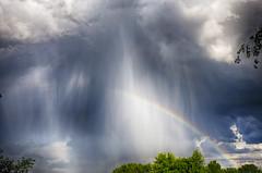 Rainbow's end (Kansas Poetry (Patrick)) Tags: rainbow storm stormclouds thunderstorm kansas rain lawrencekansas patrickemerson patricklovesnancy
