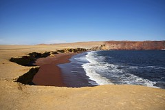 Playa Roja (...Iwonttell) Tags: playaroja peru paracas paracasnationalreserve travel explore wanderlust landscape beach redsand red colourful