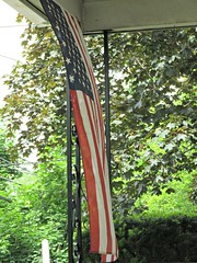 Summer Breeze (di_the_huntress) Tags: flag frontporch picmonkey americana summer