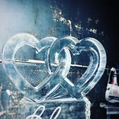 Love is in the freezer! ❄️💕❄️ Ready to melt some hearts @austinweddingguide #bridalextravaganza this Sunday @pectx #atxido #fullspectrumice #wedding #thinkoutsidetheblocks #brrriliant #icesculpture #freezerfriday - Full Spectr