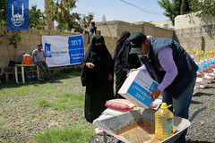 Islamic Relief Ramadan food distribution in Yemen.