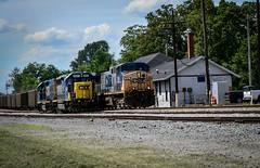 Just Passing Through (Andrew Williams Photography) Tags: csx tennessee railfan outdoor locomotive depot smalltownusa yn2 emd ge railfans