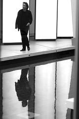 Above the water (pascalcolin1) Tags: paris fondationvuitton homme man eau water reflets reflection photoderue streetview urbanarte noiretblanc blackandwhite photopascalcolin