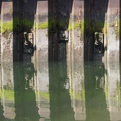 Haven abstract (Teun Donders) Tags: haven harbor water groen bruin green brown vierkant square abstract lijnen lines mos metal metaal ijzer iron roest rust verval decay spiegeling reflection industrieel industrie outdoor buiten industry