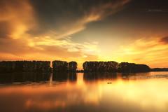 On fire ! (Stéphane Sélo Photographies) Tags: france lyon pentax pentaxk3ii saône ain blending coucherdesoleil eau fleuve glace ice landscape paysage river rivière sunset water