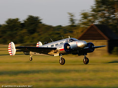 beech-1-1-1 (Stewart Taylor (SMT Photography)) Tags: beech beech18 expeditor usaaf usa aviation airshow aircraft air airdisplay theshuttleworthcollection shuttleworth shuttleworthcollection oldwarden photography photo nostalgia twinengined flight flying flyingdisplay history historic biggreentimemachine bedfordshire biggleswade