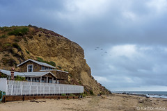 Crystal Cove - Cottage on the Sand (www.karltonhuberphotography.com) Tags: 2017 beach beachfront birds california californiacoastline clouds cottage crystalcove crystalcovestatepark drizzle grayday junegloom karltonhuber orangecountycalifornia outdoors pacificocean people sand seascape southcounty southerncalifornia theoc weather
