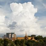 Royal Palace and Storm, Phnom Penh, Cambodia thumbnail