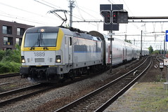 NMBS 1889 @ Vilvoorde (ianjpoole) Tags: nmbs sncb class 18 1889 working train ic2038 antwerpen centraal charleroi sud
