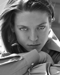 Polina (Polina Chubar) Tags: model tests street portrait people beauty eyes photo photography blackandwhite moscow monochrome face natural