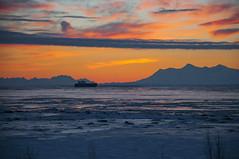 Polar sunset (George Baritakis) Tags: polar usa alaska sun sunset color travel travelling boat transportation travelblog