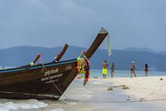phi phi island (Greg Rohan) Tags: bluesky aqua sand blue saltwater photography phiphiisland d7200 beach boat sea island 2017 thailand