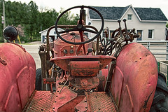 Behind the Wheel (gabi-h) Tags: alliedtractor vintage antique old warkworth ontario farmmachinery farmequipment red rust gabih