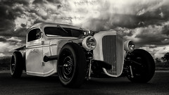 Street Rod (Explore 28/05/17) (Alan McIntosh Photography) Tags: car rod black white monochrome
