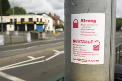 Strong. Unstable. (new folder) Tags: birmingham birminghamuk stirchley pershoreroad sticker labour votelabour electioneering strongandstable strong unstable padlock brexit