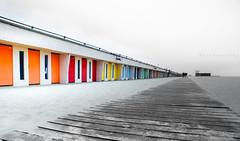 Touquet's Colors (Keulkeulmike Photography) Tags: beach touquet picard picardie cabanes cabane plage voyage viaje viaggi catchycolors colored colors sand keulkeulmike somme paysage paysages panorama fujifilm xs1 bridge