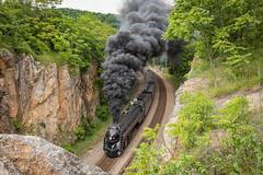 Christiansburg Grade (Scriptunas Images) Tags: norfolkwestern 611 j roanoke christiansburggrade christiansburg virginia train steam smoke overlook
