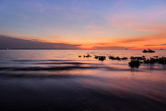 Wamth (Louise Denton) Tags: mindilbeach beach mindil waves water sunset longexposure warm sun orange yellow red silhouette darwin nt northernterritory australia dryseason