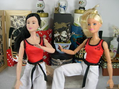 MTM Action Shot three (modcasey) Tags: made movie barbie asian show their moves background diorama