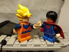 Goten vs Superboy (Jon Kent) (teamfourstud) Tags: supersaiyan one 1 ssj boot comics dc dccomics boy bootleg saiyan super dragonball dragonballz z ball dragon dbz custom lego superboy jon kent jonathan goten vs justice league teen titans teentitians son