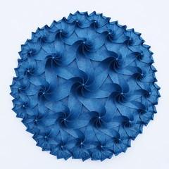 Blue Disk (Imagirom) Tags: origami tesselation imagirom hyperbolic geometry heptagon triangle poincare disk