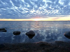 Good night, Sweden (Jaedde & Sis) Tags: sunset stone clouds reflection challengefactorywinner thechallengefactory