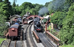 Goathland Station (Paul Thackray) Tags: yorkshire northyorkshiremoorsnationalpark northyorkshiremoorsrailway goathland 76079steamtrain station 2017