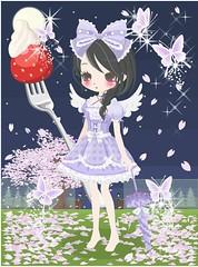 1098681_201705302152 (Nicotto Yume) Tags: ニコッとタウン 紫 かわいい ポップ リボン ドレス ロングヘア