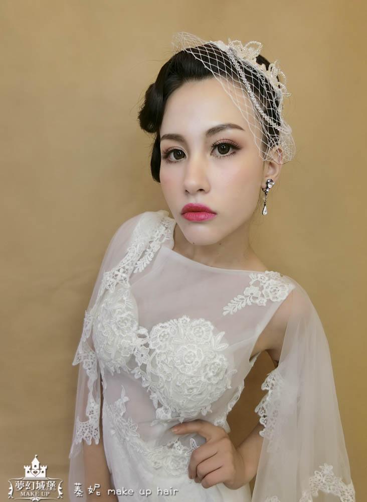 【新秘蓁妮】新娘造型創作 / 深髮色-輕復古